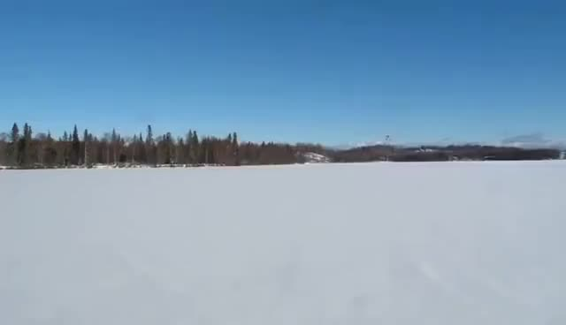 Watch and share Plane Does Donuts In The Snow GIFs on Gfycat