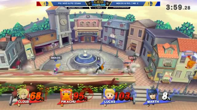 CEO Dreamland 2017 Smash 4 - RvL | Mr. E & Mekos Vs. PG | ESAM & PG | MVD SSB4 Doubles Losers Top 8