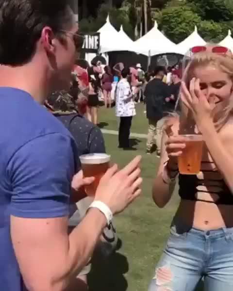 funny, beer, drunk, Beer chugging GIFs