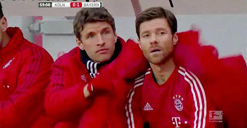 Watch and share Thomas Müller GIFs and Xabi Alonso GIFs on Gfycat