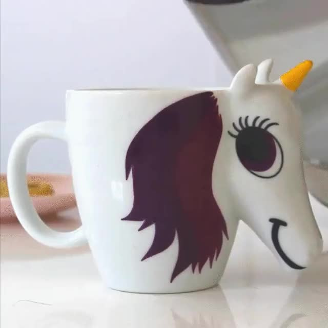 Watch and share 3D Printed Unicorn Mug GIFs by Viral Content Maker on Gfycat