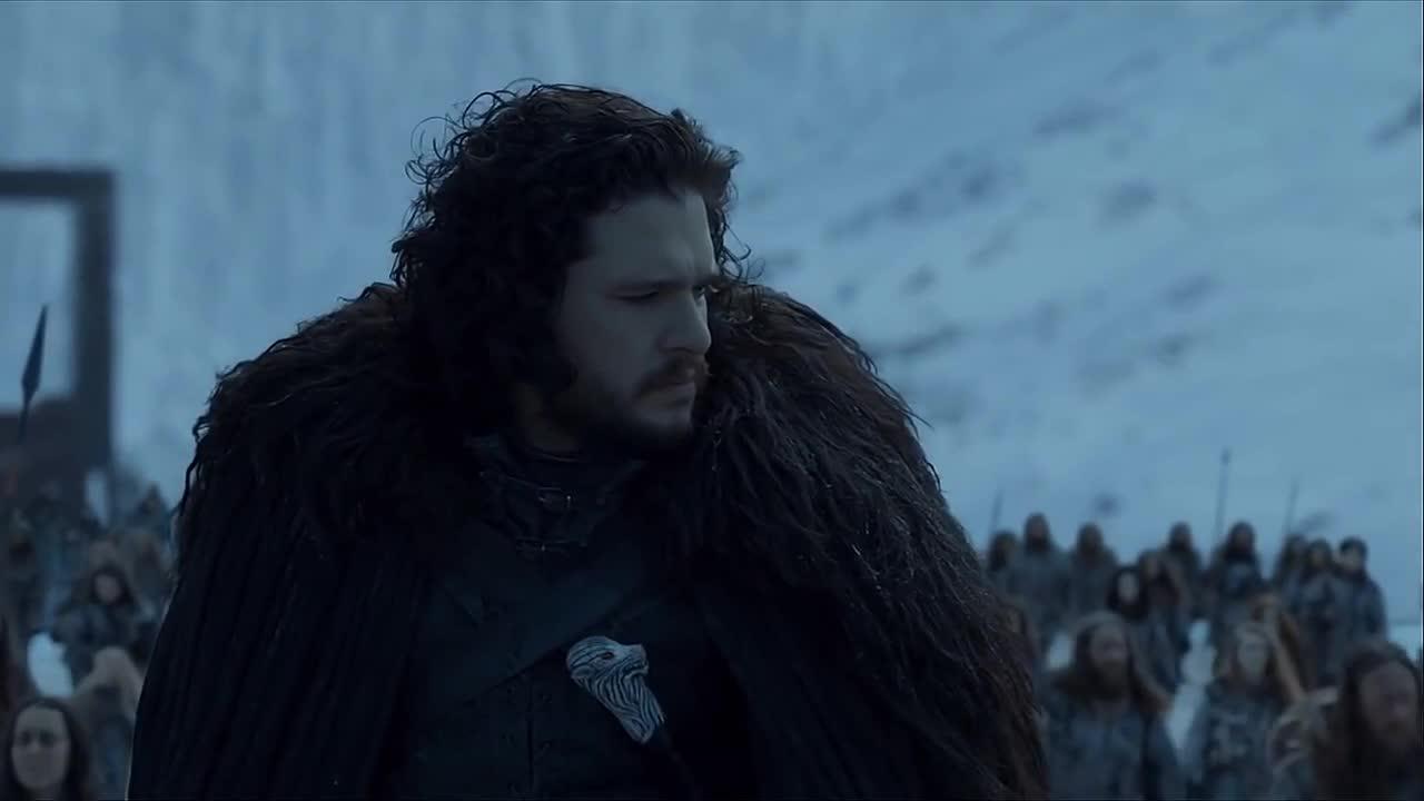 game of thrones, jon snow, kit harington, season 8, Game of Thrones Jon Rides North of the Wall GIFs