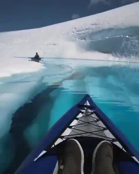 Glacier kayaking in British Columbia  (@joelschat) GIFs
