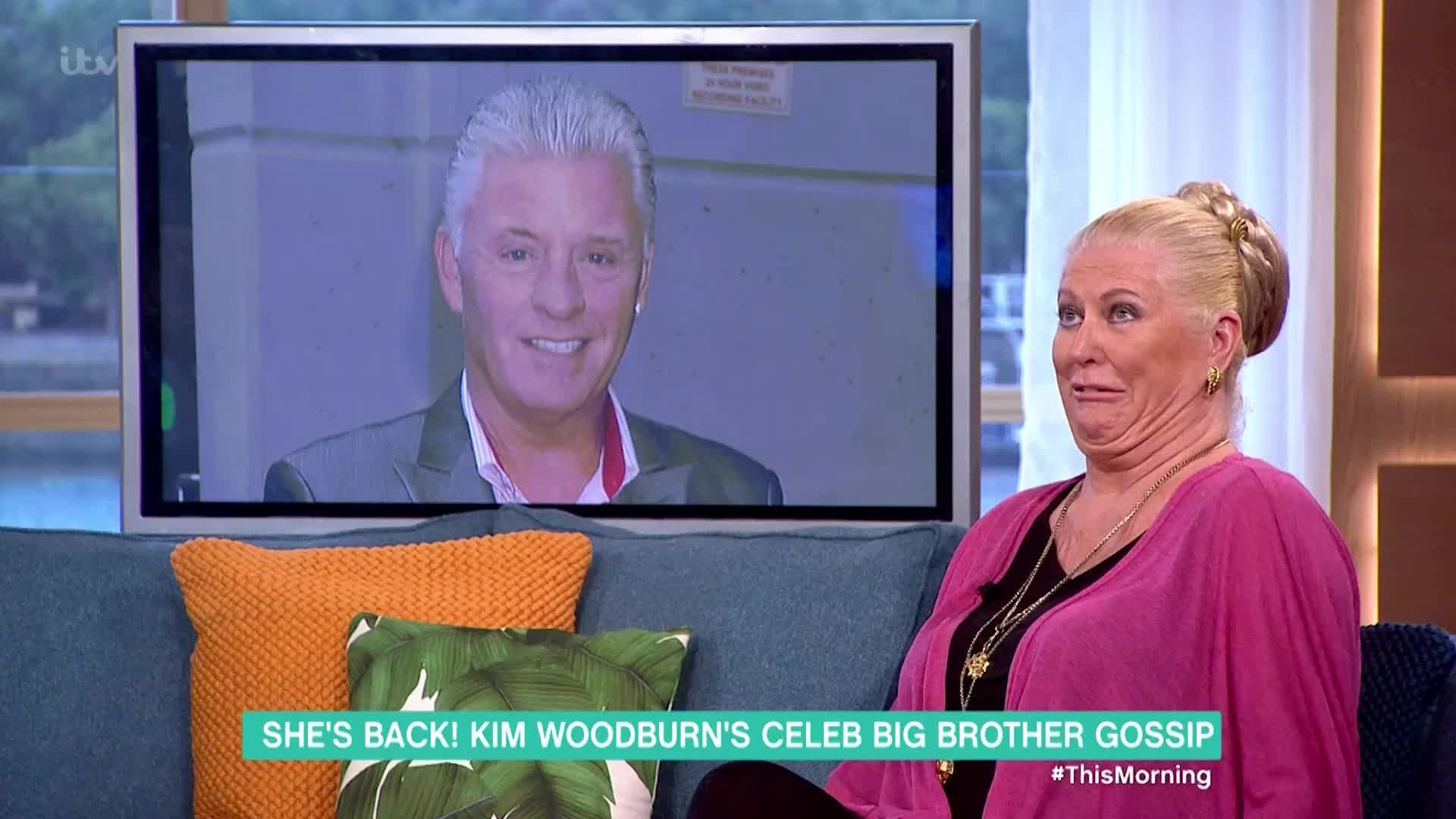 holly willoughby, interview, this morning, Kim Woodburn Casts Her Withering Eye Over the Rumoured CBB Housemates   This Morning GIFs