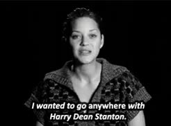 Watch and share Harry Dean Stanton GIFs and Marion Cotillard GIFs on Gfycat