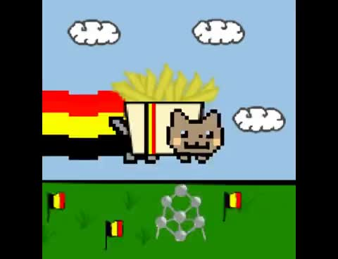 Watch and share Belgian Nyan Cat! - [BEST VERSION] GIFs on Gfycat