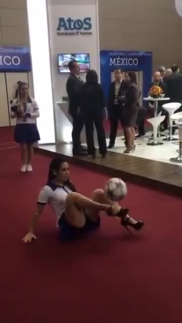 crazy, girl, soccer, Woman in Heels Has Better Skills Than You GIFs