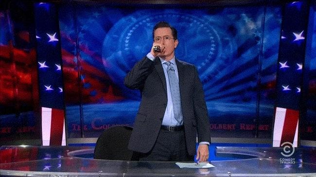 mic, mic drop, Mic Drop Colbert GIFs