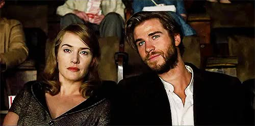 Watch and share Liam Hemsworth GIFs and Kate Winslet GIFs on Gfycat