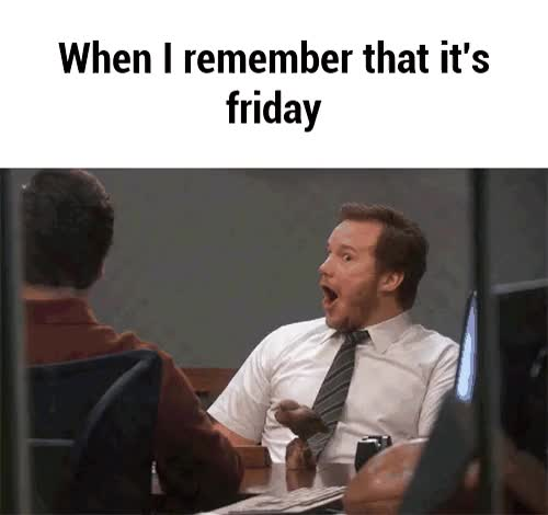 Watch this tgif GIF by @thepr3stige on Gfycat. Discover more Chris Pratt, friday, tgif, weekend GIFs on Gfycat