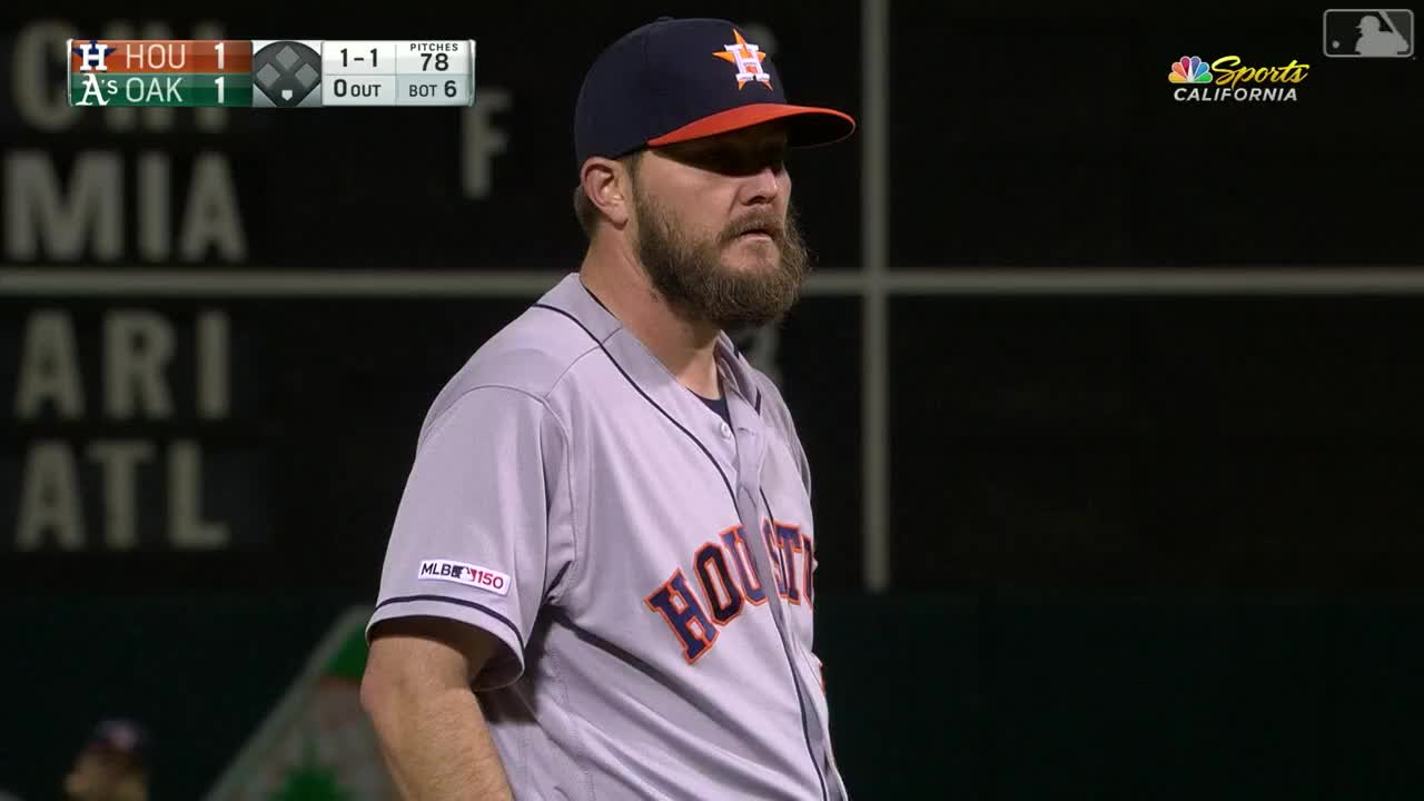 astros, athletics, baseball, batazo, chapman, esquinas, hou@oak, houston astros, houstron astros, la, mlb, mlb tonight, mlb tonight show, oakland as, oakland athletics, sports, HOUOAK: Chapman pega batazo de 4 esquinas en la 6ta GIFs