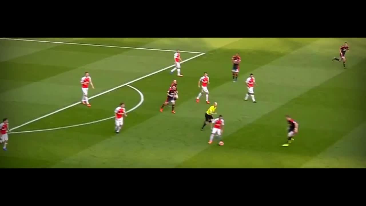 soccercirclejerk, Mesut Özil vs Manchester United (Home) 15-16 HD 1080i (04/10/2015) - English Commentary GIFs