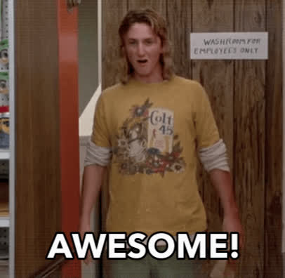 80s, Jeff Spicoli, awesome, awesome totally awesome, cool, fast times at ridgemont high, sean penn, wow, Fast Times At Ridgemont High - Awesome, Totally Awesome GIFs