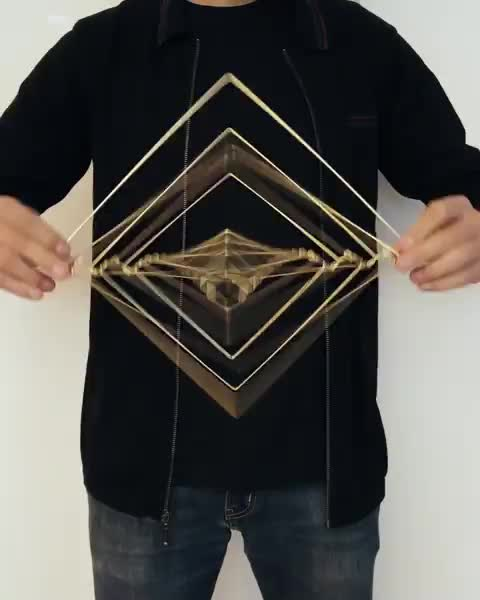 kineticsculpture, mesmerizing, satisfying, spinner, Square wave is a unique piece of kinetic design inspired by the Fibonacci sequence GIFs