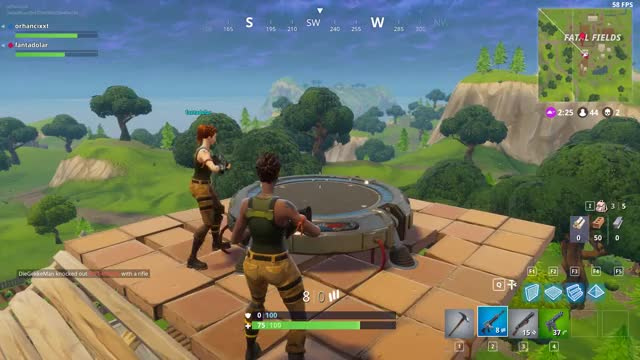 watch fortnite battle royale new update launch pads amazing gif on gfycat discover more amazing - launch pad fortnite