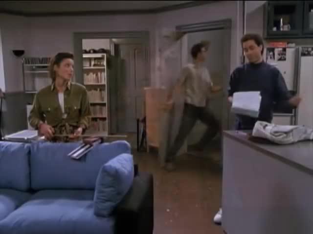 comedy, kramer, mario rugiero, seinfeld, Kramer enters GIFs