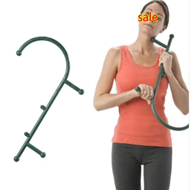 Watch and share New Thera Cane Back Hook Massager Neck Self Muscle Pressure Stick Tool Manuel Trigger Point Original Point Massage Rod GIFs on Gfycat