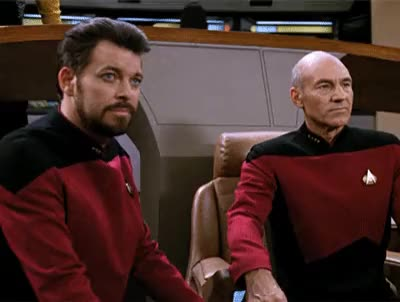 Watch and share Jonathan Frakes GIFs and Patrick Stewart GIFs by Zook024 on Gfycat