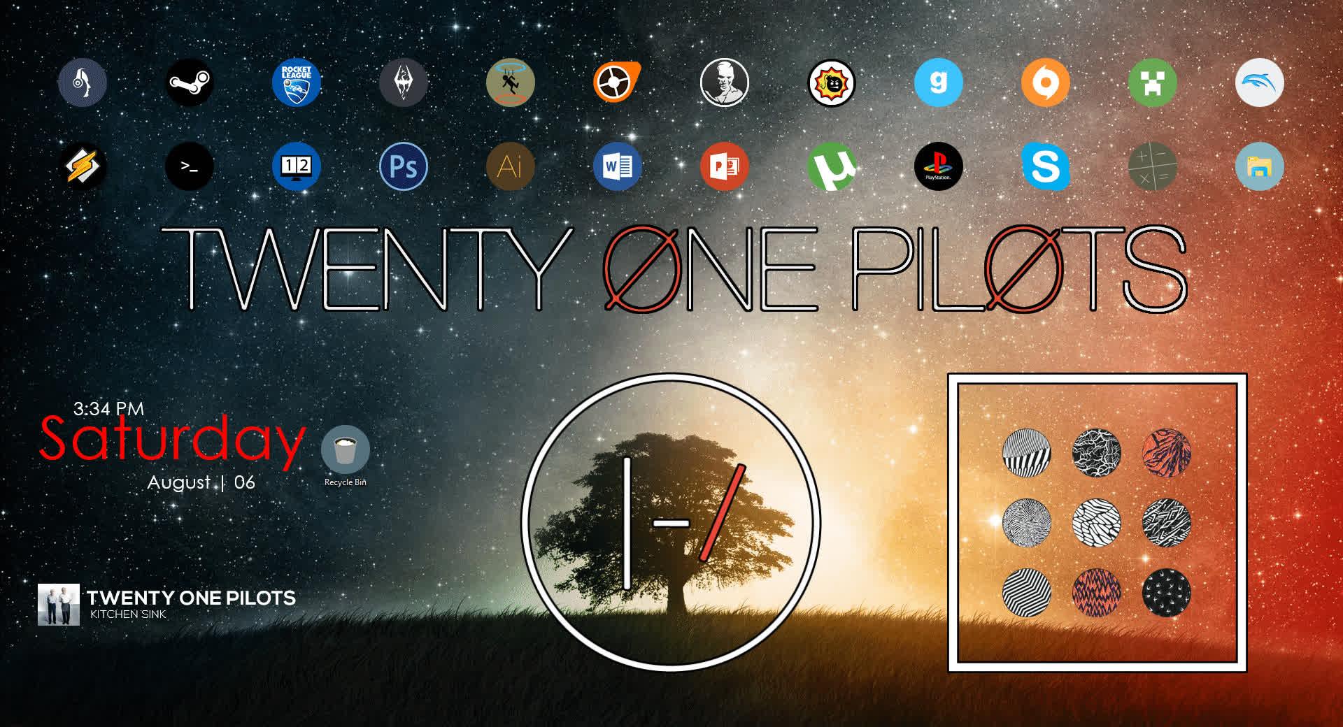 rainmeter, twentyonepilots, windows7, Twenty One Pilots Rainmeter Desktop GIFs