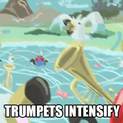 The trumpets are too awesome for this stream to handle : twitchplayspokemon GIFs