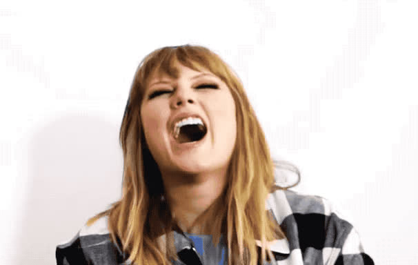 behind, end, funny, game, ha, haha, hehe, hilarious, joke, laugh, lol, loud, out, scenes, so, swift, taylor, the, Taylor Swift - LOL GIFs