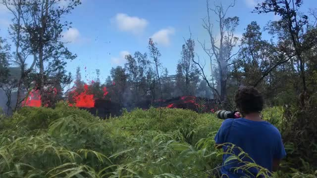 Watch Here's footage of some of the lava activity inside Leilani Estates on the Big... GIF on Gfycat. Discover more related GIFs on Gfycat