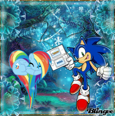 Rainbow Dash And Sonic Gif Gfycat