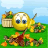 Watch and share Smiley Raking Leaves GIFs on Gfycat