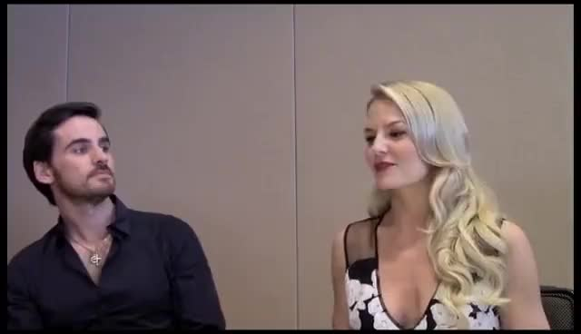 Watch ComicCon Smiles GIF on Gfycat. Discover more Colin, Jennifer, OUAT GIFs on Gfycat