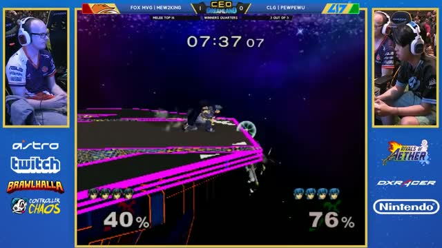 M2K with the fire edgeguard on PewPewU
