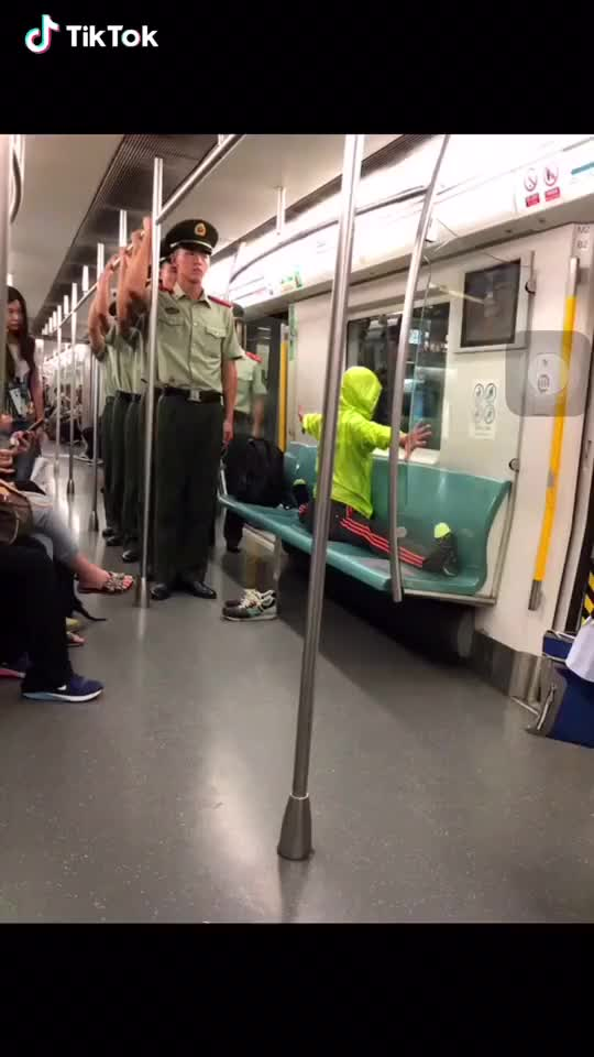 Watch and share Soldiers On Metro GIFs by bd on Gfycat