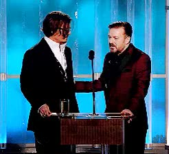 Watch and share Golden Globes GIFs and Ricky Gervais GIFs on Gfycat