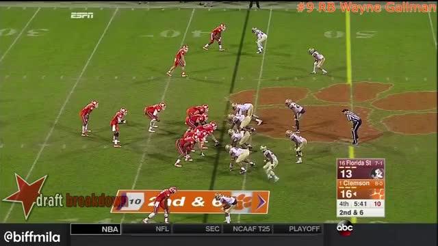 Watch Wayne Gallman (Clemson) vs. Florida State (2015) GIF on Gfycat. Discover more draft sharks, dynasty fantasy football, wayne gallman GIFs on Gfycat