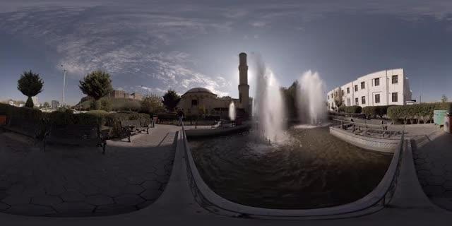 Watch and share Mosque Fountains - Erbil, Iraqi Kurdistan - 360 Cinemagraph - Pandorama360 @ YouTube.com GIFs on Gfycat