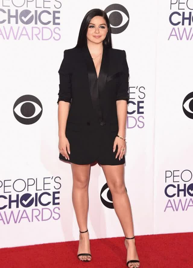Watch YouTube! Ariel Winter in a dark cutaway dress on the 41th Annual People's GIF on Gfycat. Discover more related GIFs on Gfycat