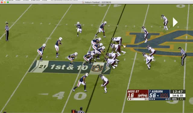 Watch and share 44.) DJ Williams First Career Carry! GIFs by ausportsnerd on Gfycat