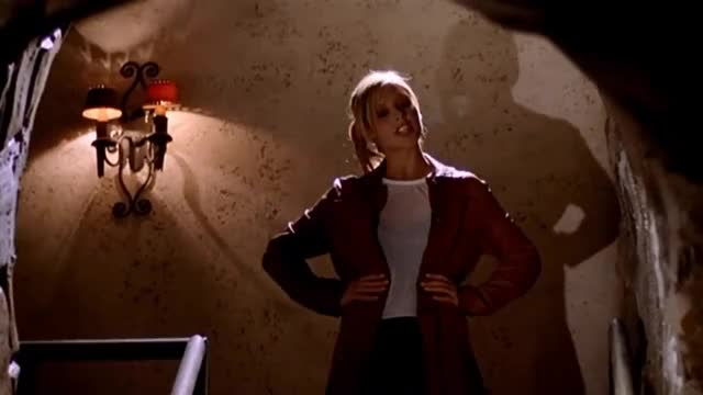 Watch Buffy 7x20 - Buffy Finds The Slayer Weapon GIF on Gfycat. Discover more All Tags, Faith, angel, anya, buffy, caleb, dawn, giles, spike, willow, xander GIFs on Gfycat