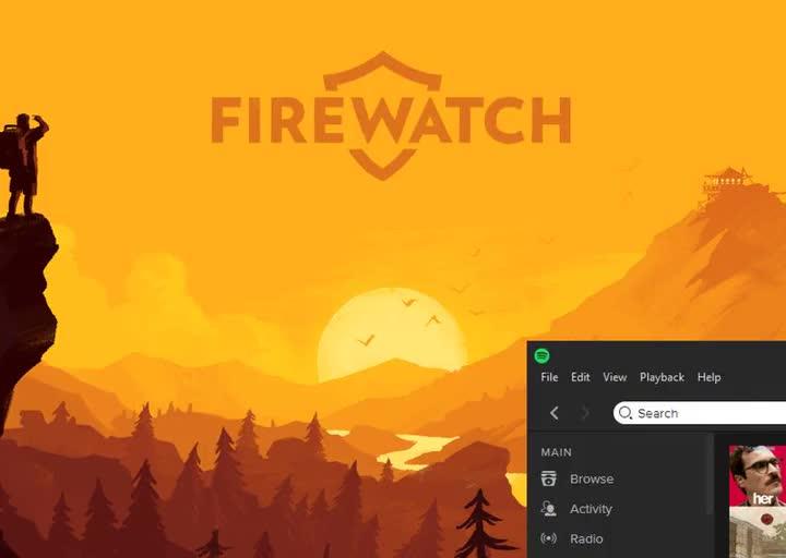 My Firewatch Parallax Rainmeter Theme! GIFs