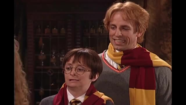 Watch Harry Potter: Hermione Growth Spurt - SNL GIF on Gfycat. Discover more 2000s, Adventure, Hogwarts, Live, Ron, Spells, classic, cleavage, fandom, film, fred, funny, guest, hermoine, host, magic, monsters, movie, wand, weasley GIFs on Gfycat