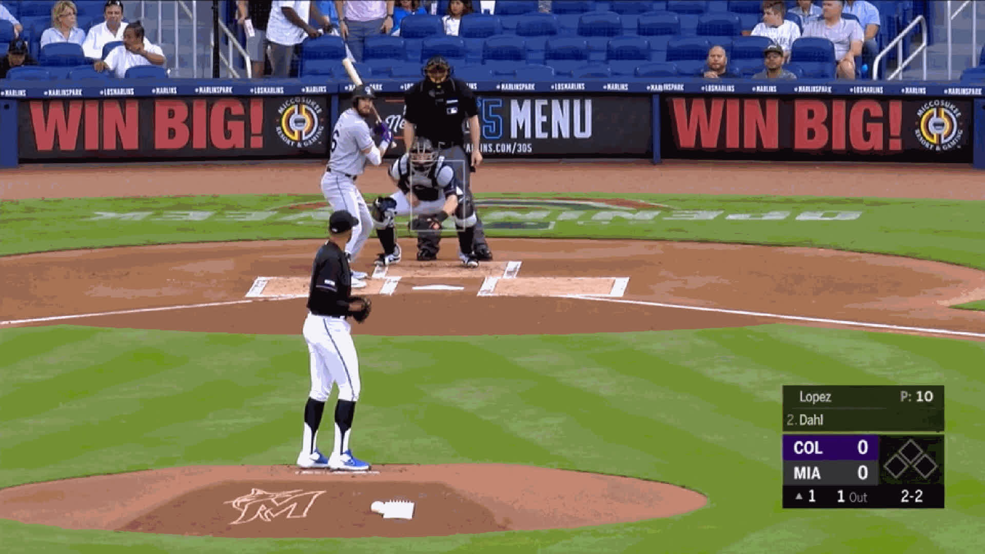 Colorado Rockies, Miami Marlins, baseball, Pablo Lopez-FB-95whiffkslomo GIFs