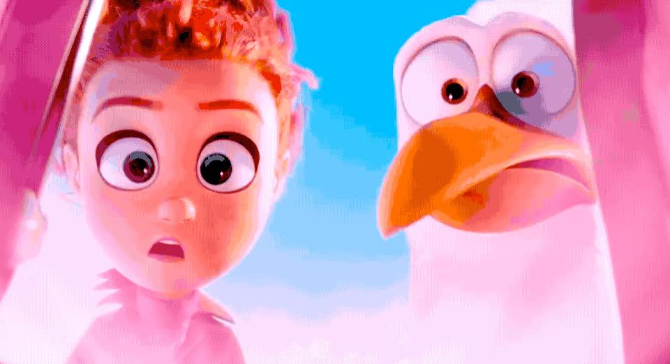 aw, aww, awww, baby, bird, cute, cutie, girl, god, melt, melting, my, oh, omg, pie, so, storks, sweet, Storks - Awww GIFs
