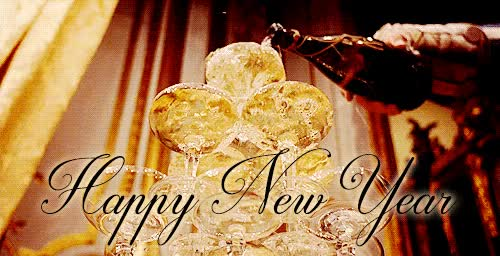 Watch and share Happy New Year Pouring Champagne Tower Toast Animated GIFs on Gfycat