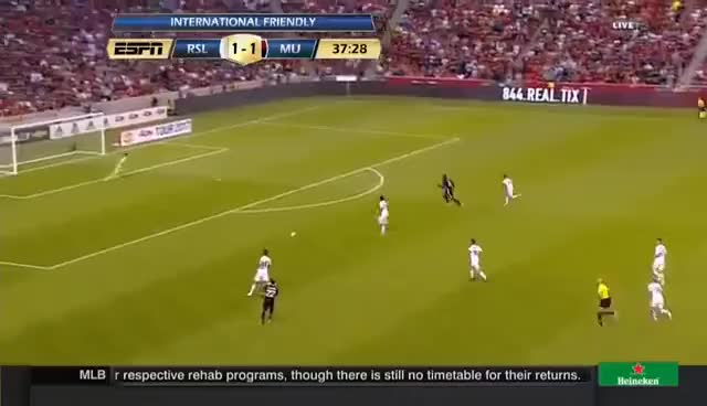 Watch and share Romelu Lukaku's First Goal For Manchester United GIFs on Gfycat