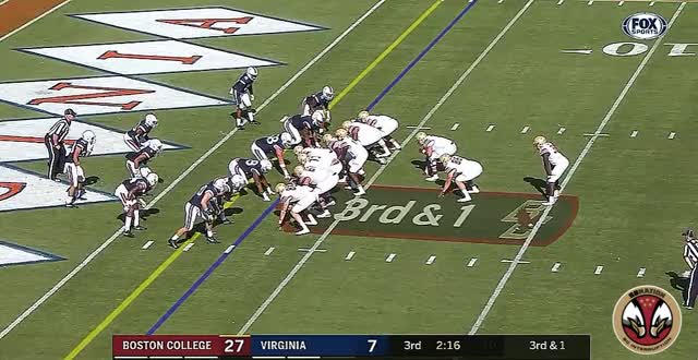 Watch and share Tommy Sweeney Touchdown 10/20/17 Virginia GIFs by salzano14 on Gfycat