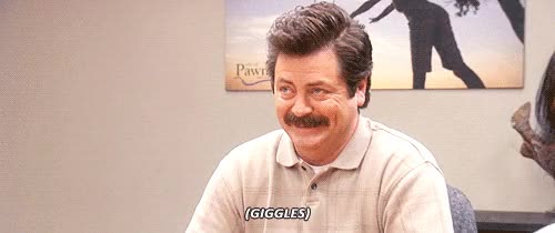 Watch stifled laughter GIF on Gfycat. Discover more nick offerman GIFs on Gfycat