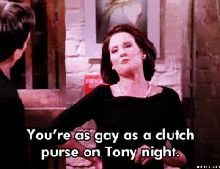 Watch and share Megan Mullally GIFs and Gay GIFs on Gfycat