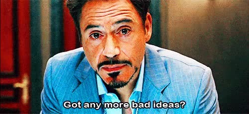 Watch and share Robert Downey Got Any More Bad Ideas GIFs on Gfycat