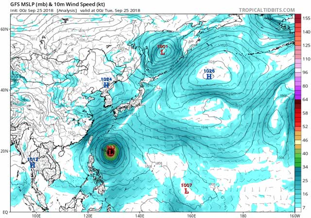 Watch Typhoon Trami - gfs mslp wind wpac fh-72-384 GIF by The Watchers (@thewatchers) on Gfycat. Discover more related GIFs on Gfycat