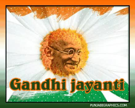 Watch and share Gandhi Jayanti Graphic For Myspace GIFs on Gfycat