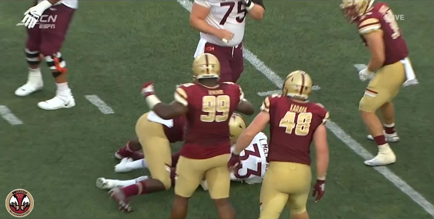 football, 9/1/19 Tanner Karafa Interception Virginia Tech GIFs